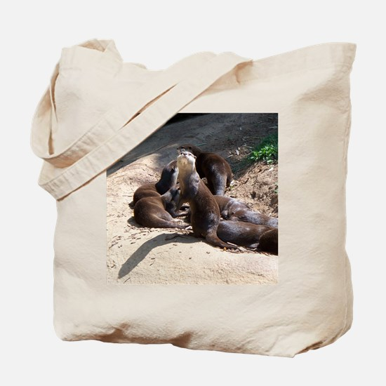 otters5.png Tote Bag