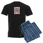 Aliberto Men's Dark Pajamas