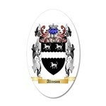 Alinson 20x12 Oval Wall Decal