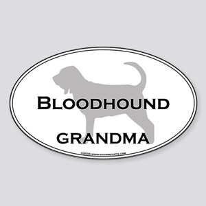 Bloodhound GRANDMA Oval Sticker