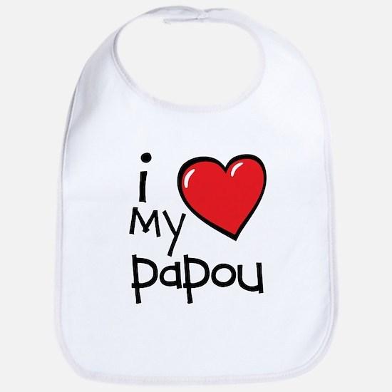 I Love My Papou Bib