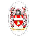 Allcock Sticker (Oval 50 pk)