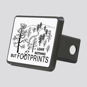 Leave Nothing but Footprints BLK Rectangular Hitch