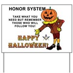 Halloween Honor System Yard Sign