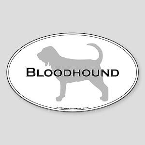 Bloodhound Oval Sticker