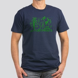 Leave Nothing but Footprints Green Men's Fitted T-