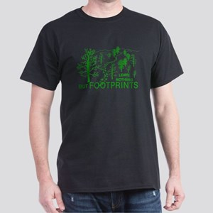 Leave Nothing but Footprints Green Dark T-Shirt