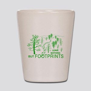 Leave Nothing but Footprints Green Shot Glass