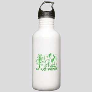Leave Nothing but Footprints Green Stainless Water
