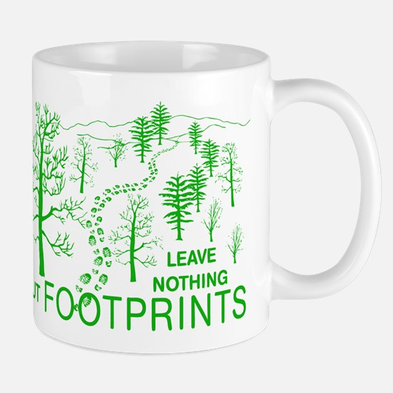 Leave Nothing but Footprints Green Mug