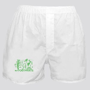 Leave Nothing but Footprints Green Boxer Shorts