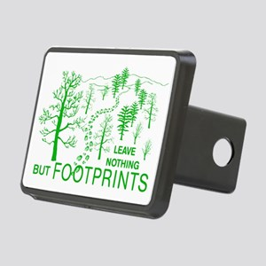 Leave Nothing but Footprints Green Rectangular Hit