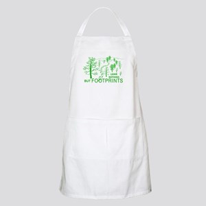 Leave Nothing but Footprints Green Apron