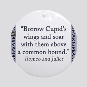 Borrow Cupids Wings and Soar Round Ornament