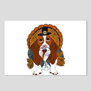 Basset Hound Thanksgiving Turkey Postcards (Packag