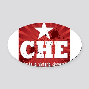 hata la vic red cc Oval Car Magnet