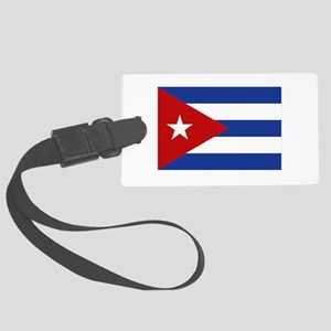 cuba bandera clean Large Luggage Tag