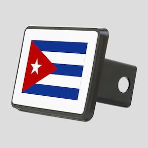 cuba bandera clean Rectangular Hitch Cover
