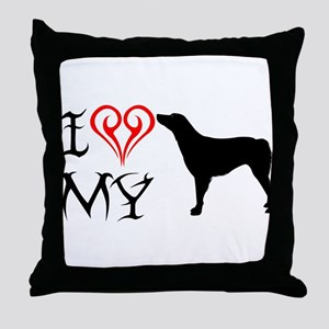 American Brittany Throw Pillow