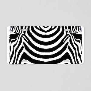 Zebra print 4 Aluminum License Plate