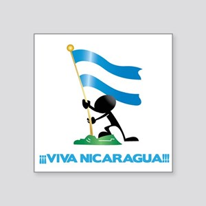 "Nicaragua l Square Sticker 3"" x 3"""