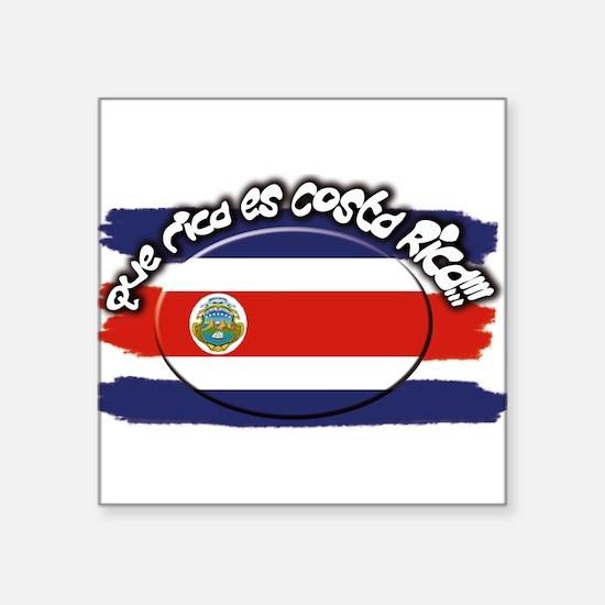 "Costa Rica que rica.png Square Sticker 3"" x 3"""