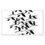 Little Auk Flock Sticker (Rectangle 10 pk)