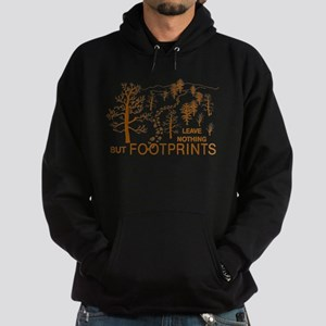 Leave Nothing but Footprints Brown Hoodie (dark)
