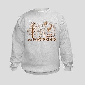 Leave Nothing but Footprints Brown Kids Sweatshirt