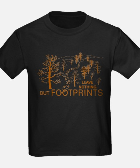 Leave Nothing but Footprints Brown T