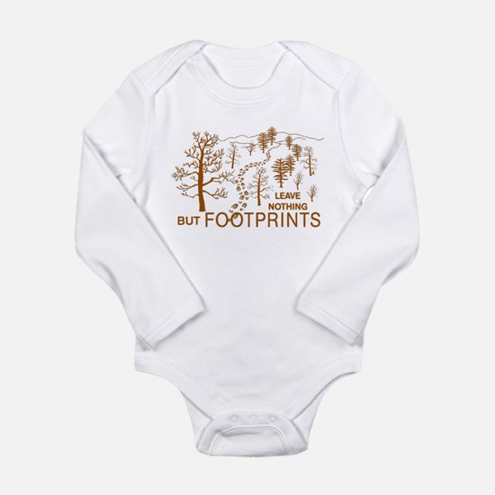 Leave Nothing but Footprints Brown Onesie Romper Suit