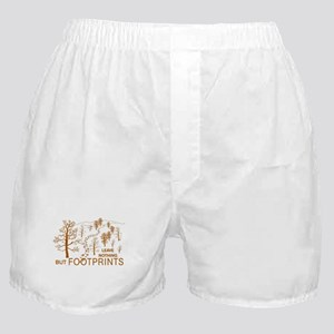 Leave Nothing but Footprints Brown Boxer Shorts