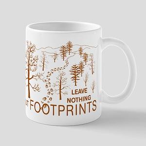 Leave Nothing but Footprints Brown Mug