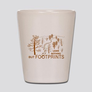 Leave Nothing but Footprints Brown Shot Glass