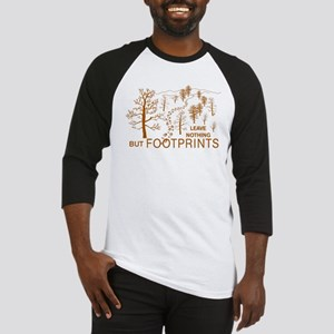 Leave Nothing but Footprints Brown Baseball Jersey