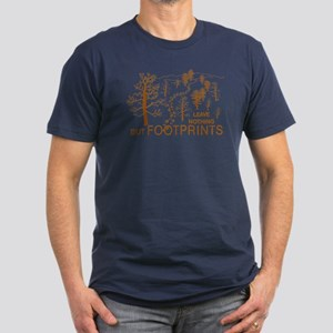Leave Nothing but Footprints Brown Men's Fitted T-
