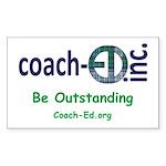 Coach-Ed Madras Sticker (Rectangle)