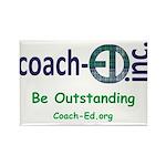 Coach-Ed Madras Rectangle Magnet