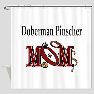 Doberman Pinscher Mom Shower Curtain