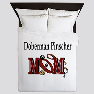 Doberman Pinscher Mom Queen Duvet