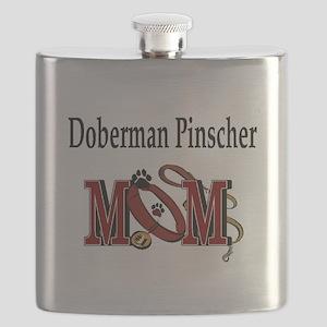 Doberman Pinscher Mom Flask