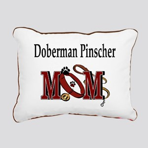 Doberman Pinscher Mom Rectangular Canvas Pillow