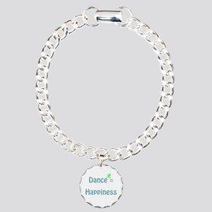 Dance Equals Happiness Charm Bracelet, One Charm