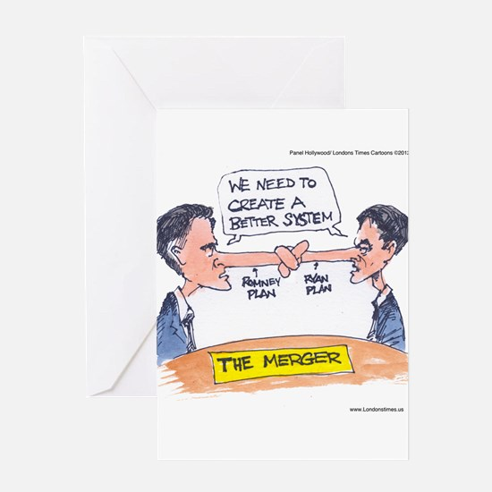 Romney Ryan Merger Greeting Card
