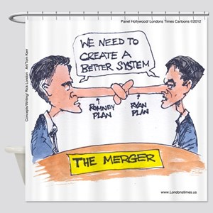 Romney Ryan Merger Shower Curtain