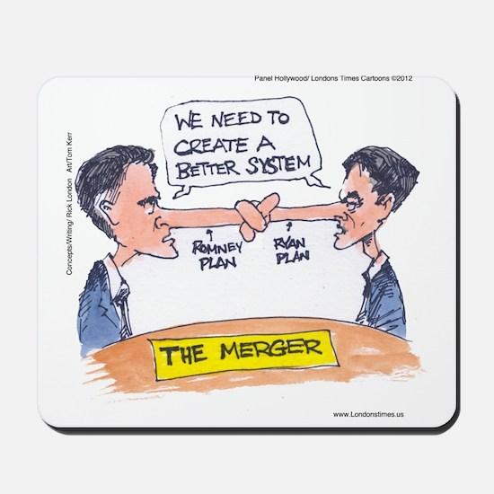 Romney Ryan Merger Mousepad