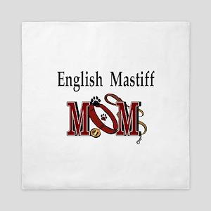 English Mastiff Mom Queen Duvet