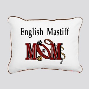 English Mastiff Mom Rectangular Canvas Pillow