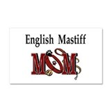 "English mastiff mom 12"" x 20"""