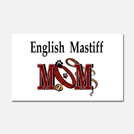 English Mastiff Mom Car Magnet 20 x 12